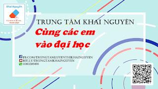 Trung tâm luyện thi đại học Khai Nguyên chuyên luyện thi môn Vật lý