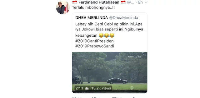 Video Jokowi Naik Moge, Ferdinand: Terlalu Bohongnya !
