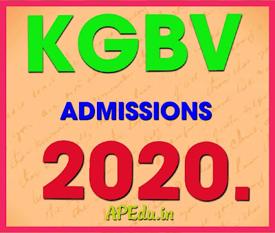 KGBV ADMISSIONS 2020 - Provisional Selection List For Intermediate and VIII, VII, VI Classes.