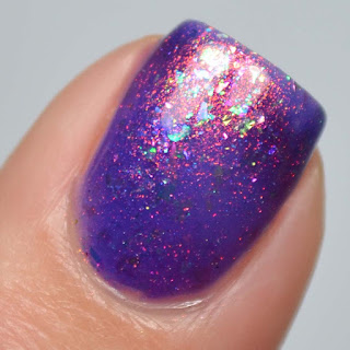 grape flakie nail polish