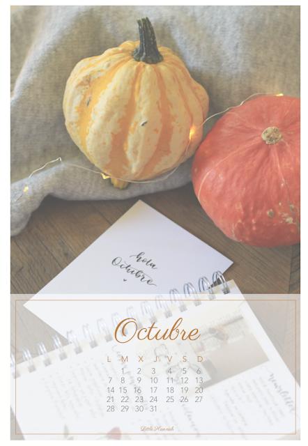 Hola, octubre: calendario descargable