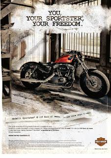 harley davidson forty eight 1200 pubblicità 2010 hd italia