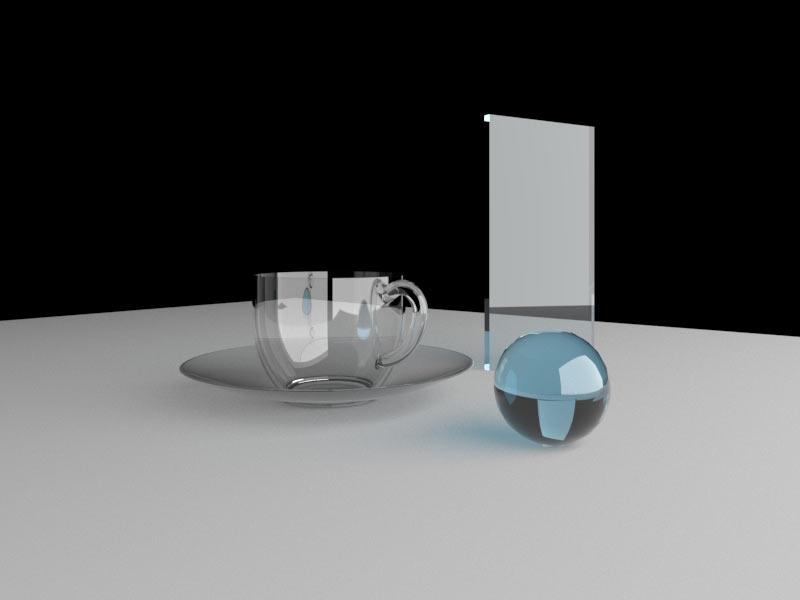 material gelas kaca vray sketchup 2020