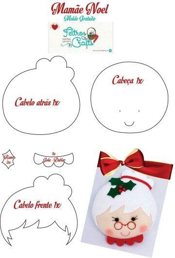 DIY - Decoração de Natal Com Feltro Super Fácil de Fazer Com Moldes 19