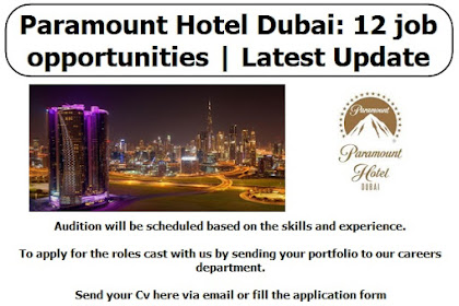 Paramount Hotel Dubai: 12 | Latest job Update