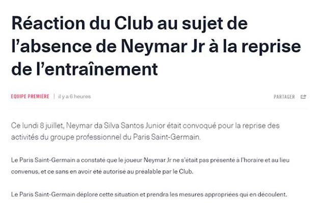 """Neymar """"giở trò bẩn"""" để về Barca: PSG giận tím mặt, thề trừng phạt thích đáng"""