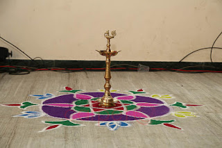 Traditional welcome floor art tamil nadu