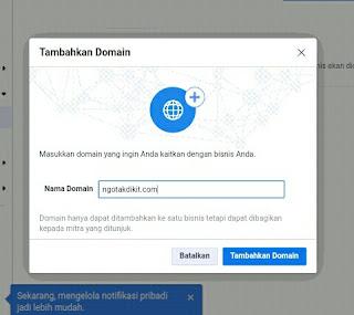 Takut Domain Blog Diblokir Facebook? Lakukan Verifikasi Domain Blog