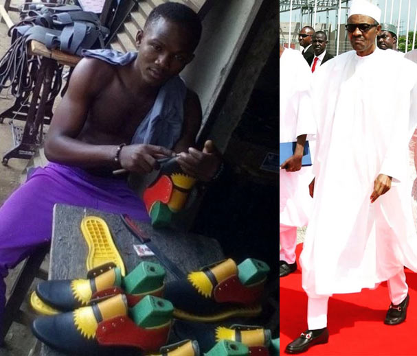 This Biafran shoemaker reportedly wants to make one for Nigerian president Buhari