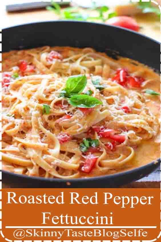 4.8 | ★★★★★ Roasted Red Pepper Fettuccini with Creamy Feta Sauce! Well that just says comfort food all over the place. If you are looking for a fast, easy and restaurant quality pasta dish, you just found it!#RoastedRed #Pepper #Fettuccini