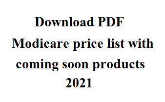 Modicare price list with coming soon products 2021