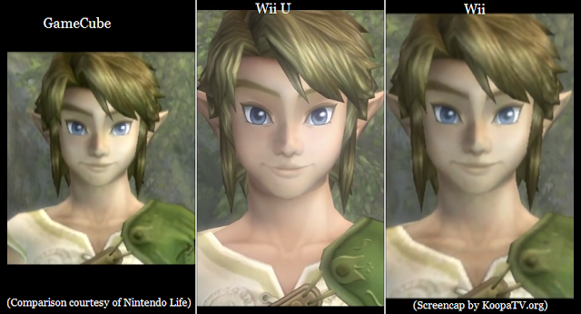 The Legend of Zelda: Twilight Princess HD Wii U GameCube Wii graphics textures comparison side-by-side resolution
