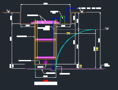 typical trench section in autocad fromat