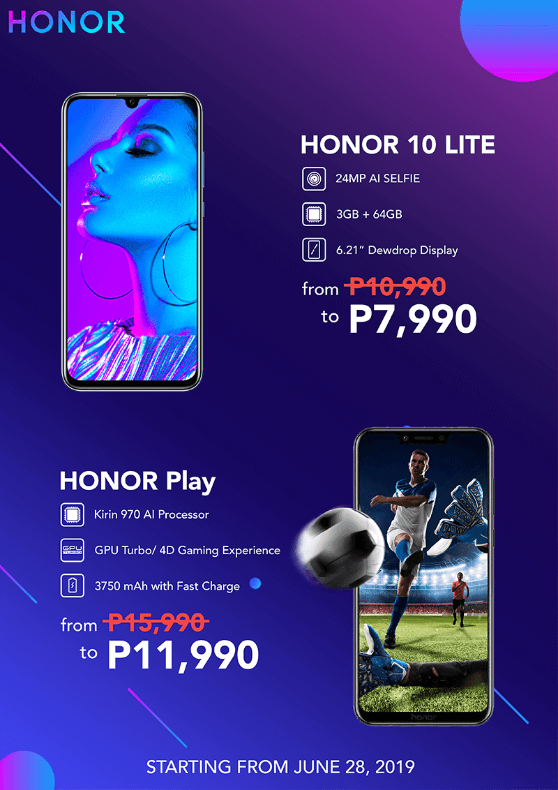 Sale Alert: Get the Honor Play and Honor 10 Lite with up to PHP 4K savings starting June 28!