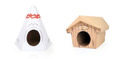 Cardboard Teepee and Cabin
