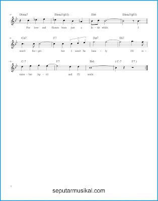 I'll Remember April 2 chords jazz standar