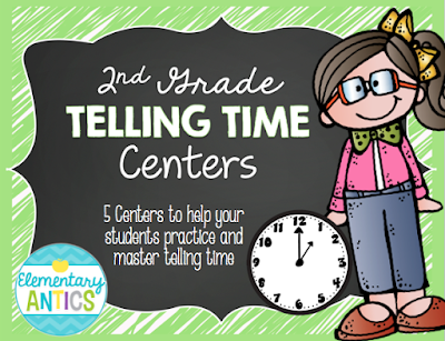 https://www.teacherspayteachers.com/Product/Telling-Time-Centers-2nd-Grade-2008465