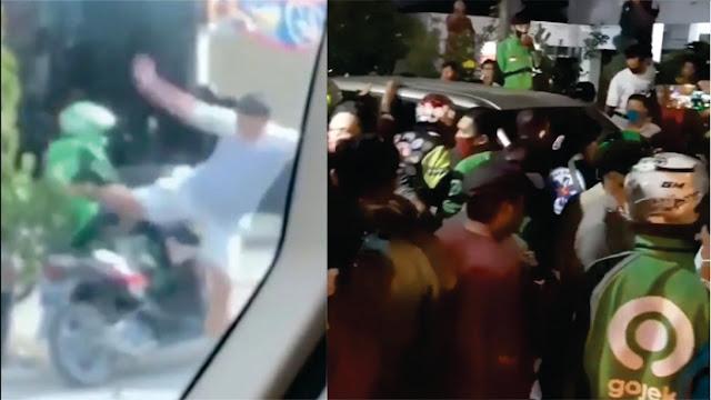 Pria Penendang Ojol, Rumahnya Digeruduk Massa, Netizen Bilang Sampai Ngompol