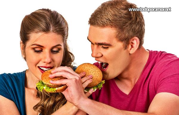 La pareja y el amor engordan