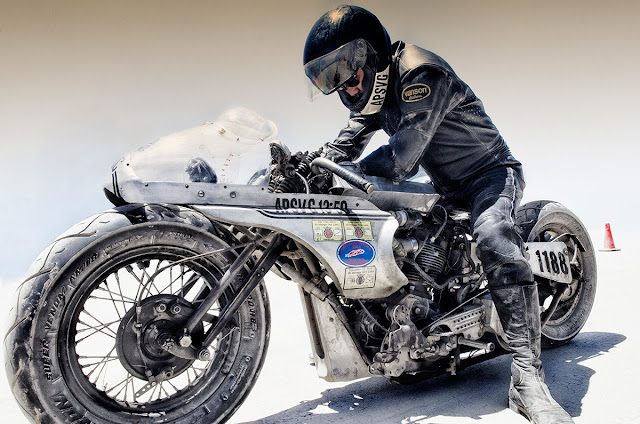 Shinya Kimura Bonneville Salt Flat Speed Racer - Photographer Unknown
