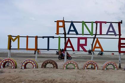 Pantai Mutiara Baru Terletak Di Karya Makmur Objek Baru Yang Ada Di Lampung Timur