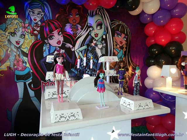 Decoração de festa tema Monster High - Aniversário infantil