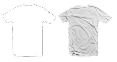 Cara Membuat Mockup Tshirt Dengan Corel Draw hasil akhir setelah dipisahkan garis tshirt