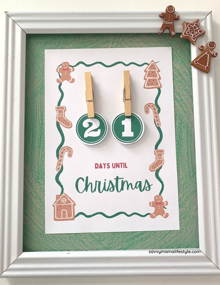 printable christmas countdown