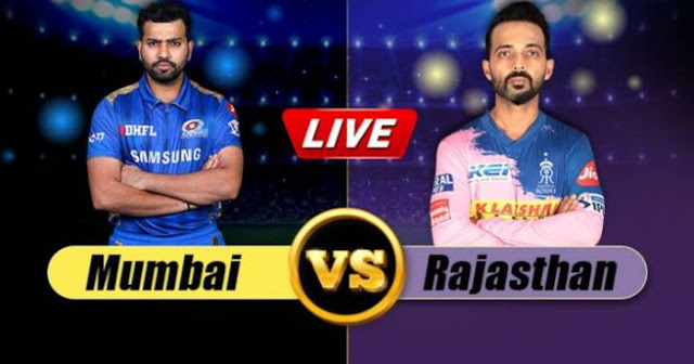 VIVO IPL 2019 Match 36 RR vs MI Live Score and Full Scorecard