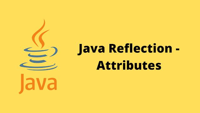 HackerRank Java Reflection - Attributes problem solution