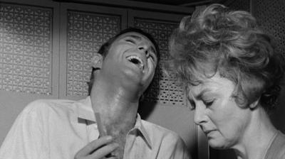 James Caan and Olivia De Havilland in Lady in a Cage (1964)