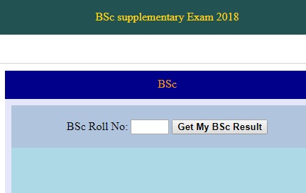 Click the link below to check the result of supplementary examination 2018