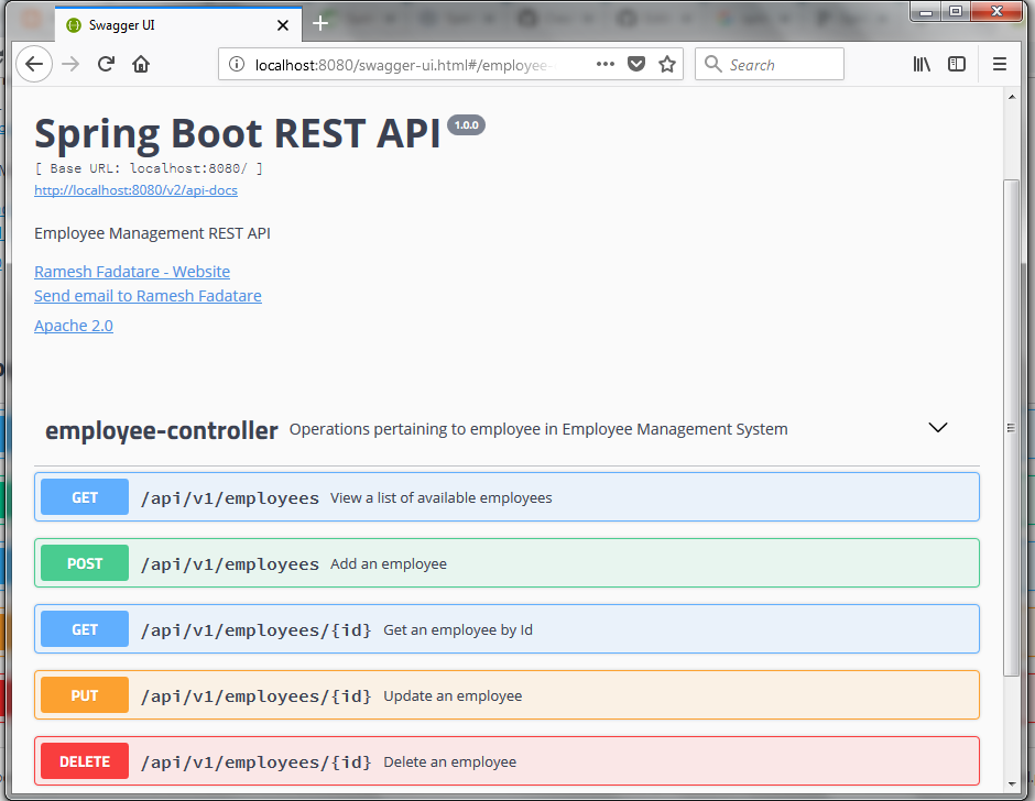 Spring Boot 2 RESTful API Documentation With Swagger 2 Tutorial
