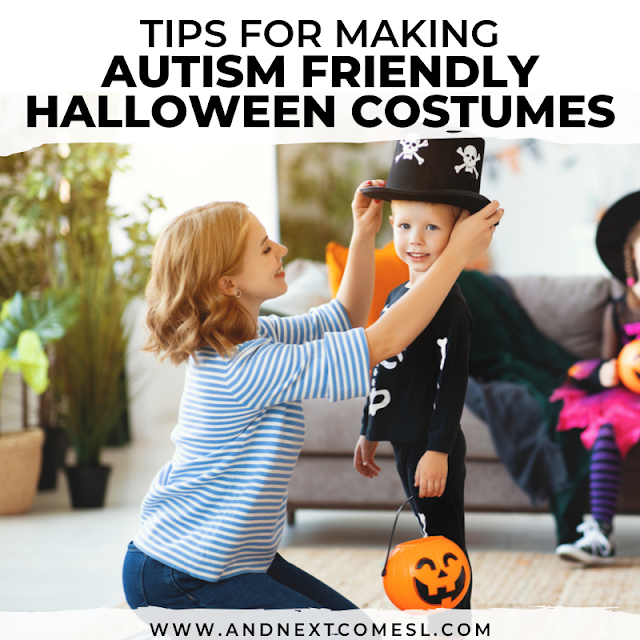 Sensory friendly Halloween costumes - autism Halloween tips