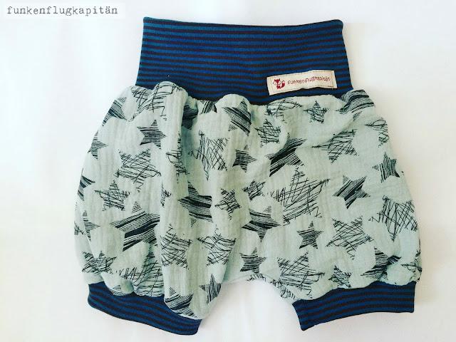 Shorts, Bloomers, Musselin, nähen