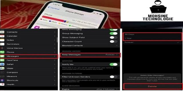 الرسائل النصية القديمة ورسائل تطبيق iMessage