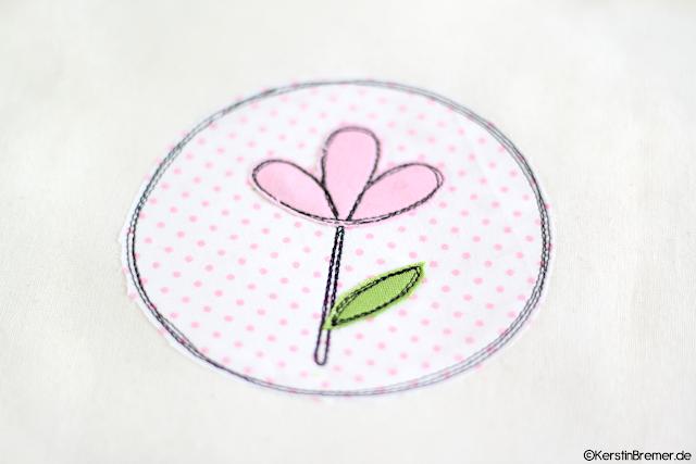 Blumen Doodle Stickdatei