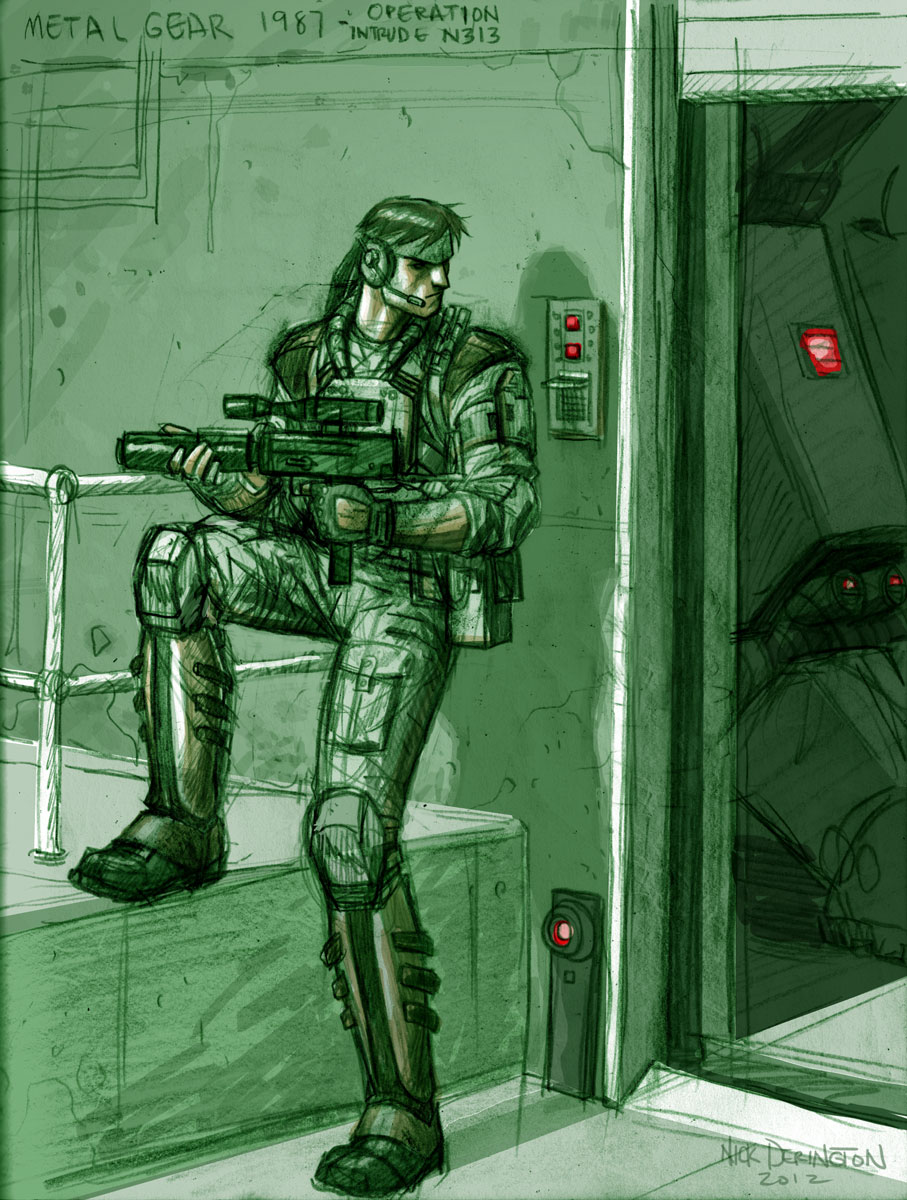 Nick Derington Metal Gear 1987
