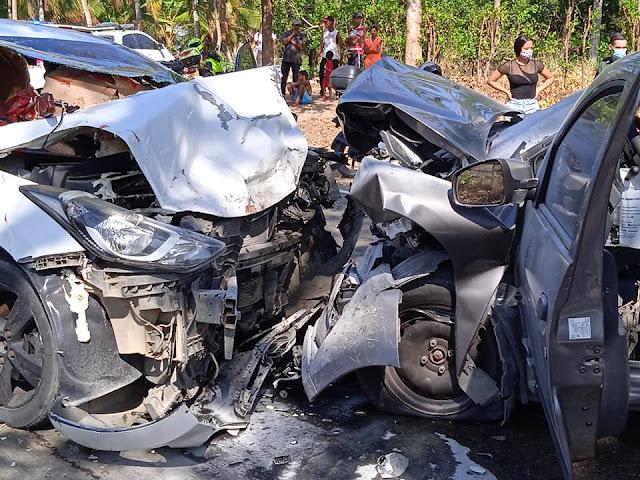 Aparatoso accidente en la vía Baranoa - Usiacurí