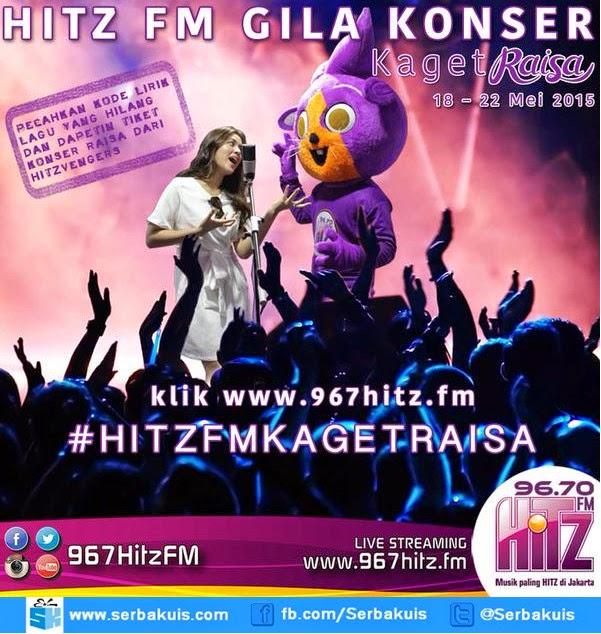 Kuis Hitz FM Berhadiah Tiket Raisa Live In Concert