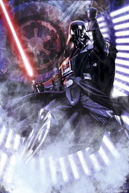 Star Wars tapet Darth Vader light saber