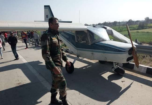 new-Delhi-city-general, news, state, emergency landing at Eastern Peripheral Expressway, Indian airforce, Hidon airbase Ghaziabad,  new-Delhi-city-general, Delhi general, new-Delhi-city-crime, Delhi crime, Delhi top, An aircraft made an emergency landing at Eastern Peripheral Expressway near Sadarpur village today, UP Top, Sadarpur village Ghaziabad,