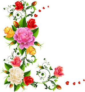 Desenhos de flores coloridas