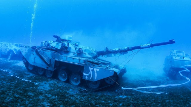 Taking aircraft carriers, giant tanks to the seabed as museums