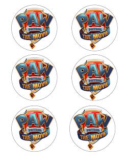 Paw Patrol movie birthday printables
