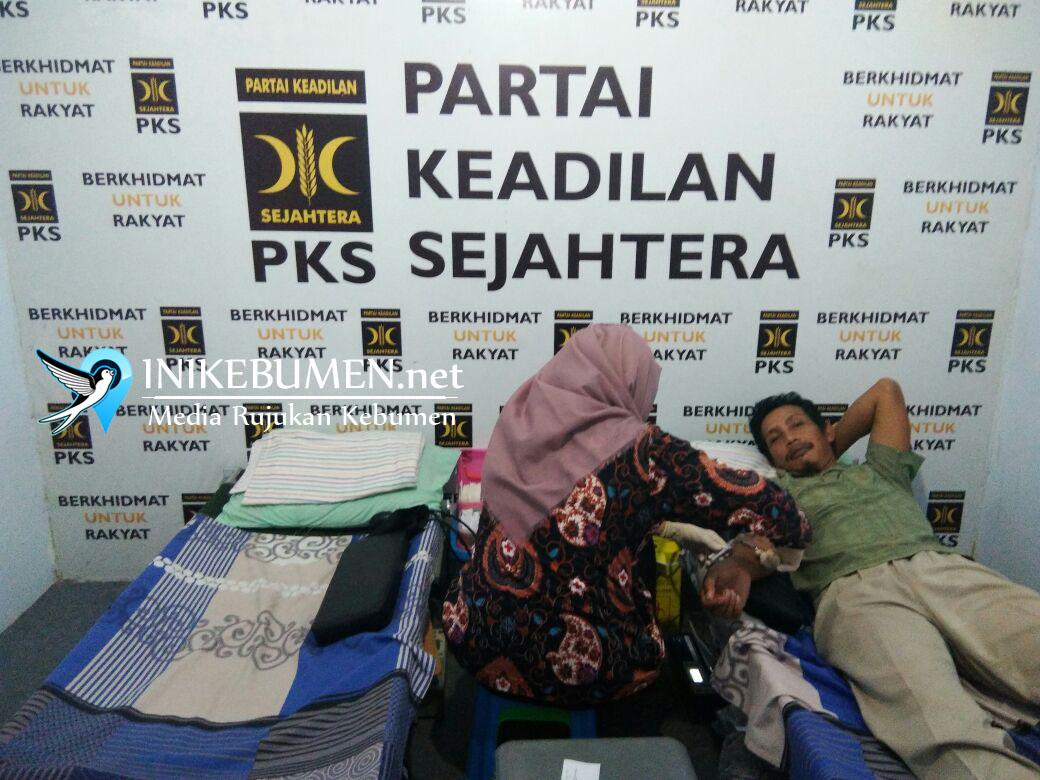 Rayakan Milad, PKS Kebumen Gelar Donor Darah