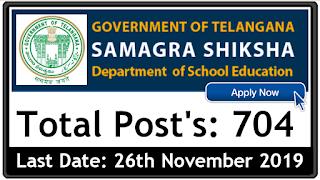 Samagra Shiksha Abhiyan Government of Telangana notification 2019 for SSA apply online