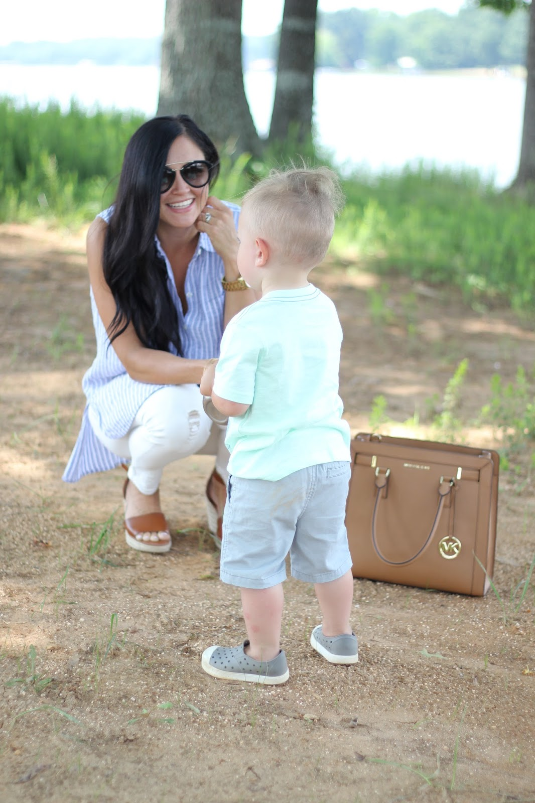 Stilettos and Diapers, Diaper bag to purse transition, Boymom, Michael Kors