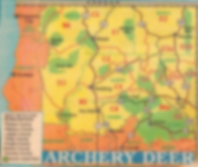 deer hunting maps, where to hunt deer zones, bow hunting california