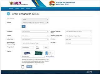 Pengisian Formulir Pendaftaran CPNS